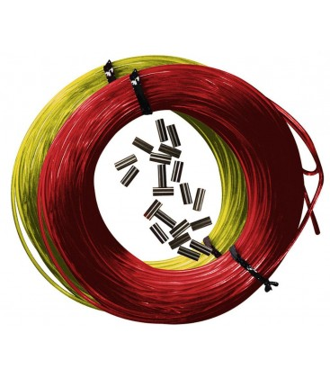 25m*1.6mm monofilament + 10 klambrit. Punane